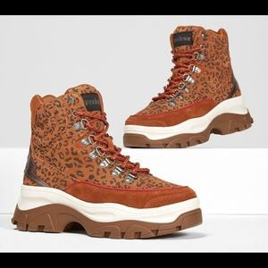 NWT Punkrose by Sketchers Leopard Print Boots